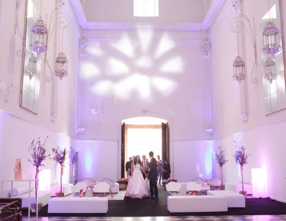Mobiliario bodas en </br> <b> La Cartuja de Ara Christi </b> </br> Valencia
