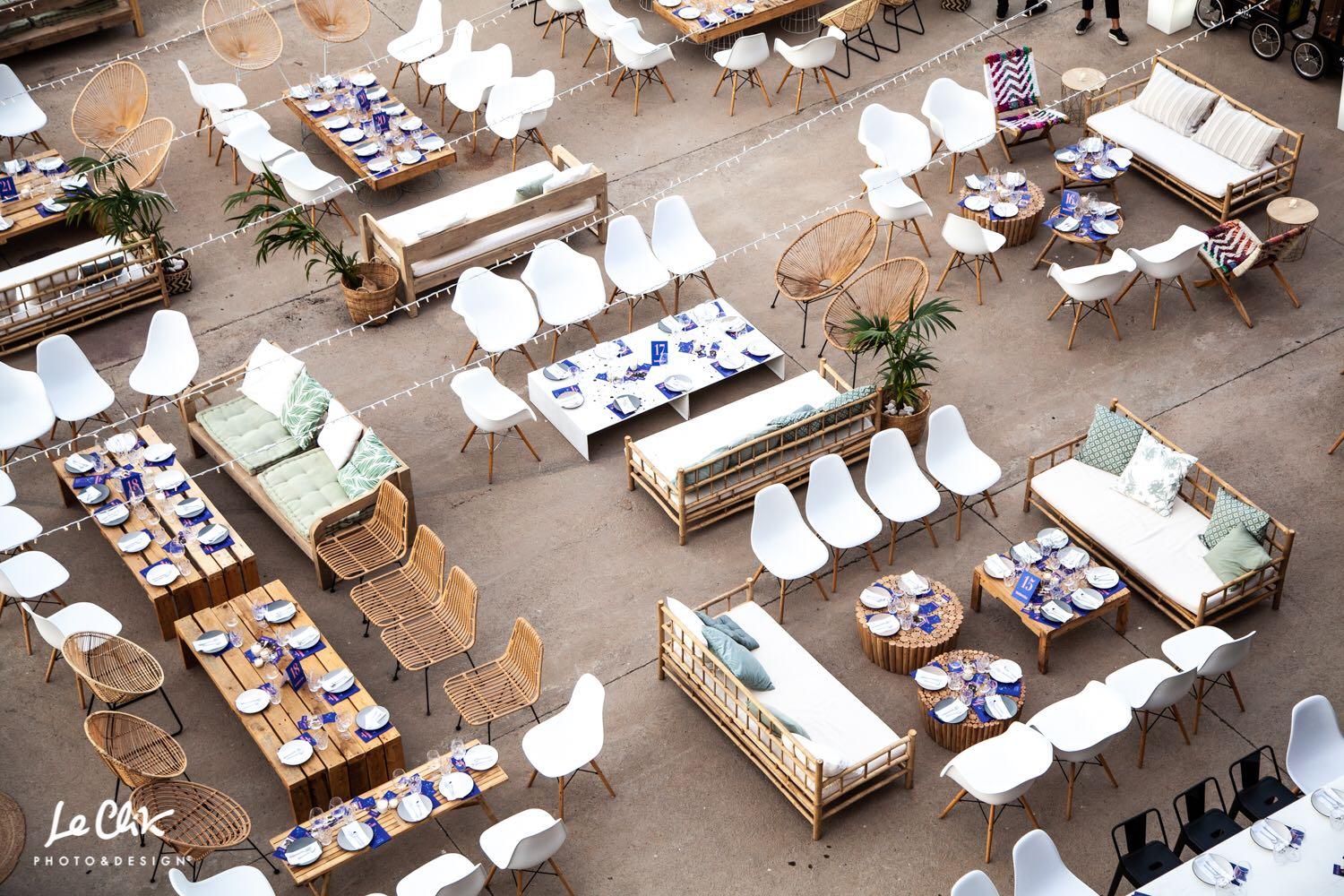 Mobiliario eventos en </br> <b> Insomnia Puerto  </b> </br> Valencia