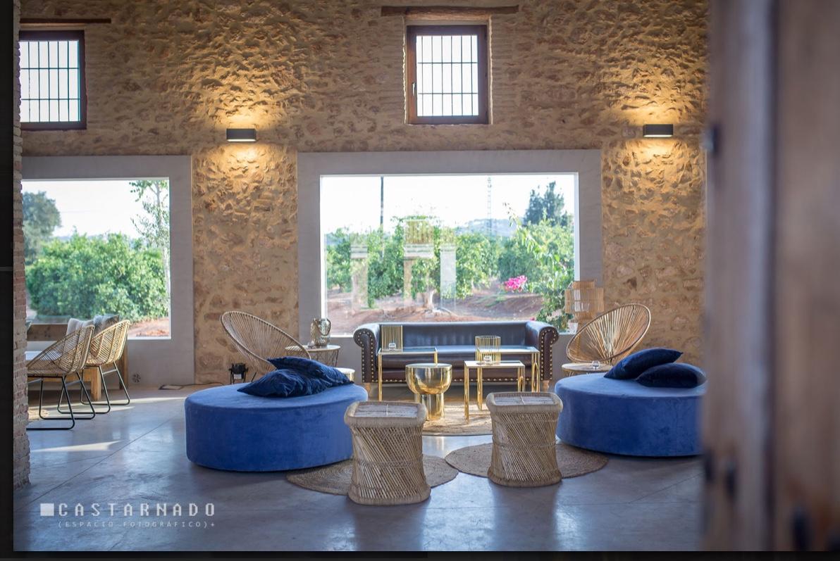 Mobiliario bodas en </br> <b> Masía Aldamar </b> </br> Valencia