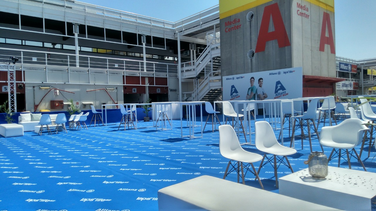Mobiliario eventos en </br> <b> Circuito Montmeló </b> </br> Barcelona